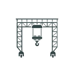 Brücken und Portalkrane